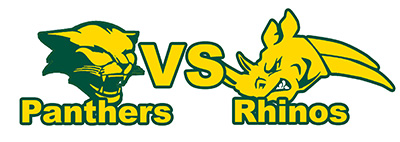 Panthers Vs Rhinos logo