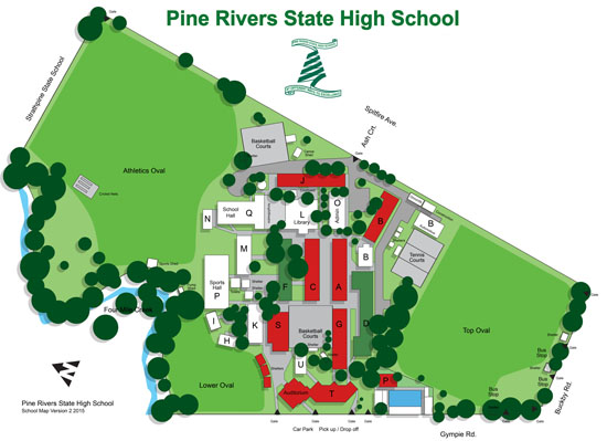 Pine Rivers State High School map