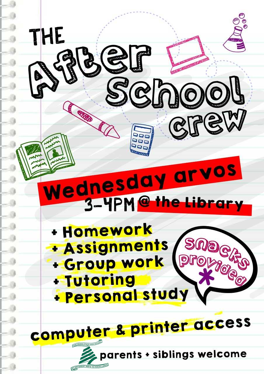 The After School crew flyer
