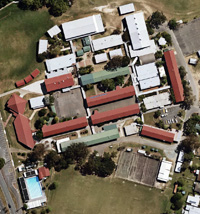 Aerial photo of Pine Rivers State High School